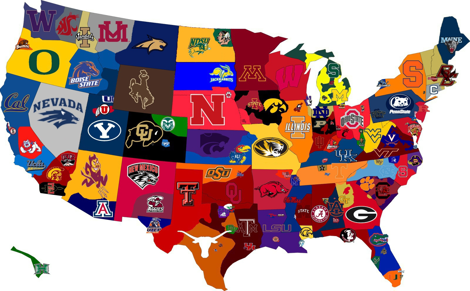 Us map nba teams