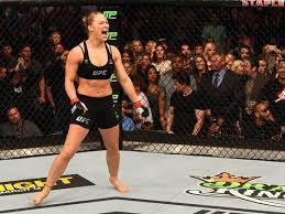 Rousey after defeating Correia