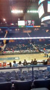Author's photo from Chicago Sky game. The official attendance figure seems a bit suspect