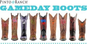 """These cool kids made cowboy """"Gameday Boots"""" a thing, I like that!"""