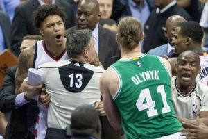 Olynyk and Oubre face off