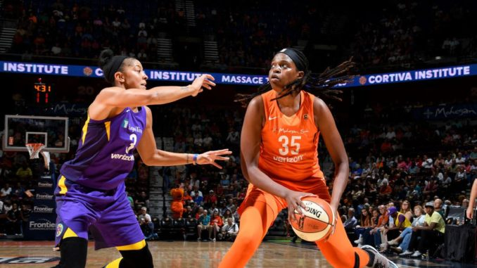 three teams battle in a wnba race
